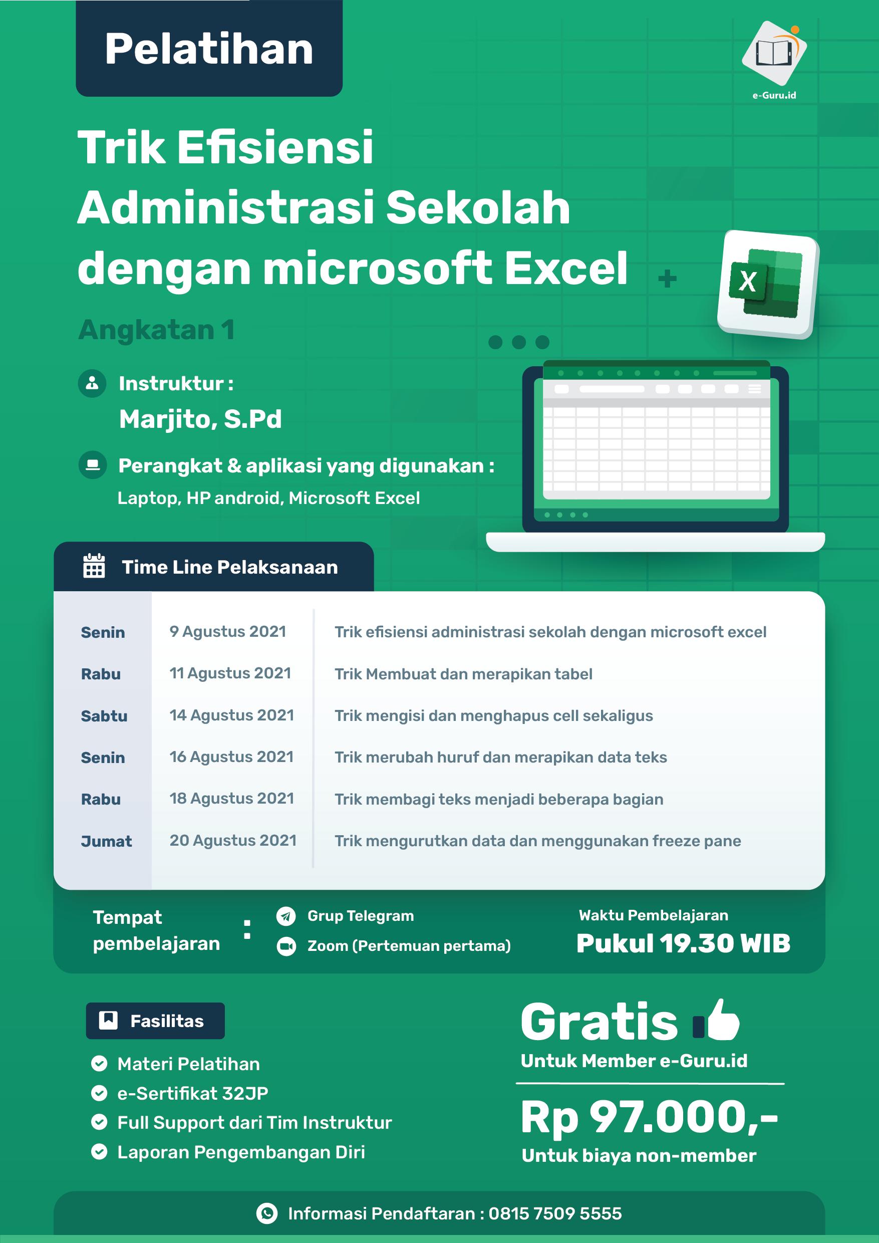 10. Pelatihan Trik Efisiensi Administrasi Sekolah dengan microsoft Excel-02