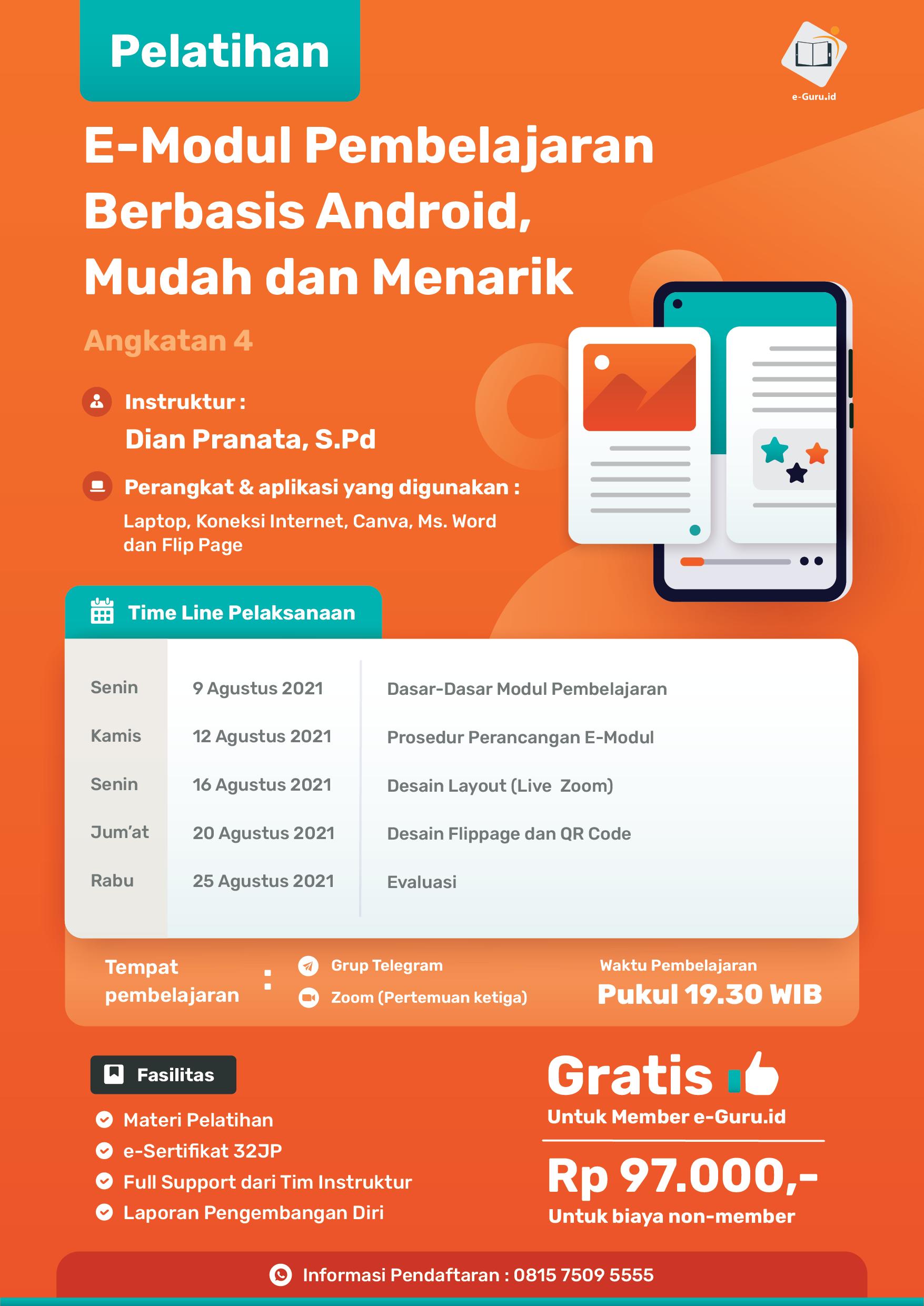 11. Pelatihan E-Modul Pembelajaran Berbasis Android, Mudah Dan Menarik-02