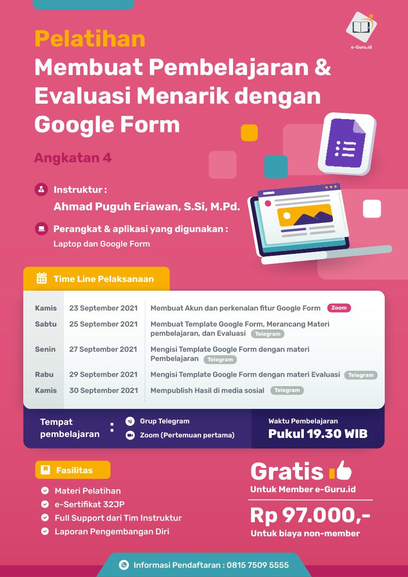 19. Pelatihan Membuat Pembelajaran _ Evaluasi Menarik dengan Google Form-01