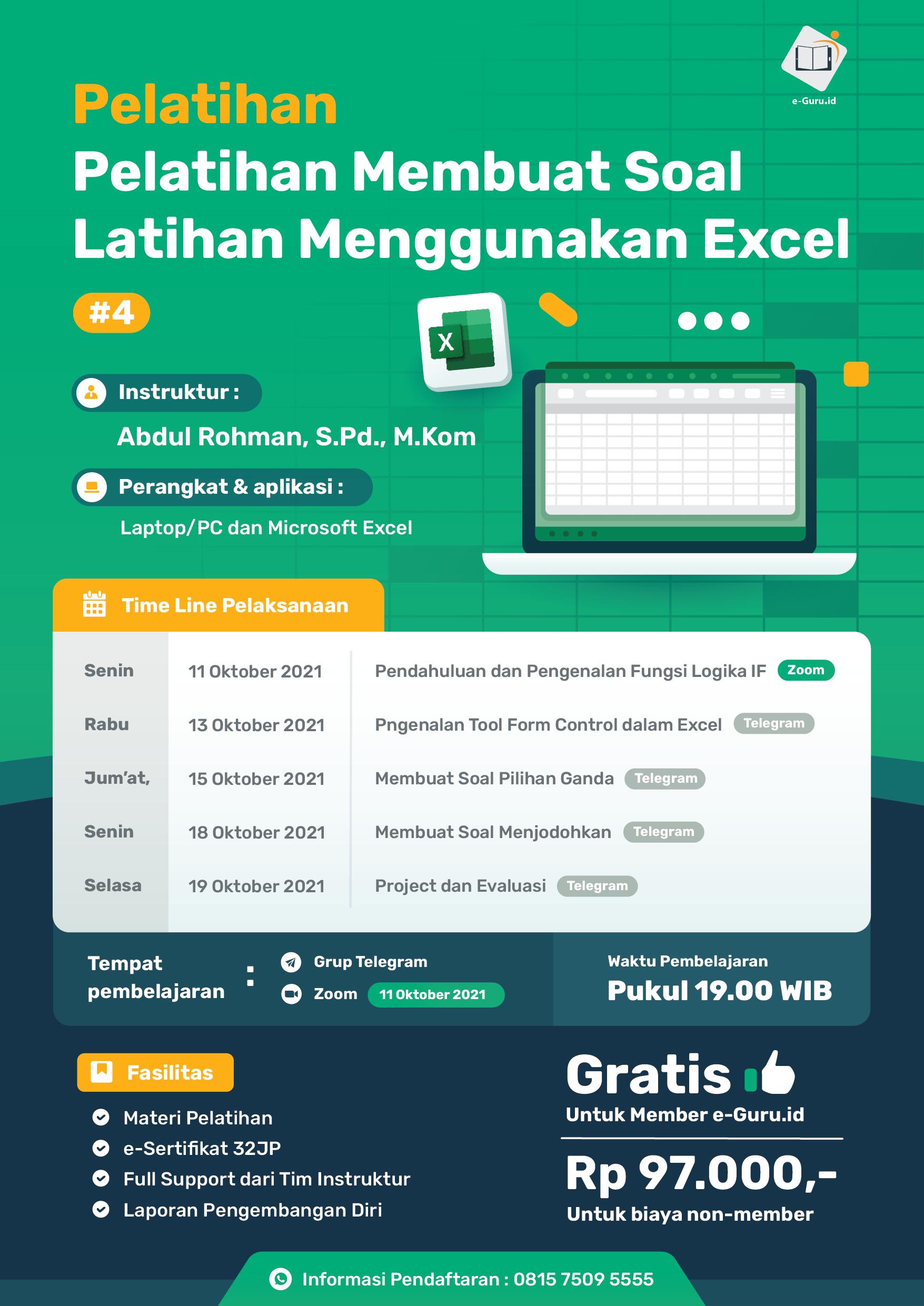 07. Pelatihan Membuat Soal Latihan Menggunakan Excel-02